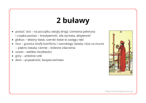 Symbole tarota - ebook - karta 2 buławy - wróżka Ksymena