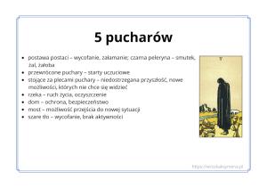 Symbole tarota - ebook - karta 5 pucharów - wróżka Ksymena