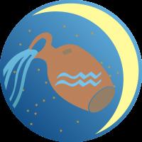 Księżyc w Wodniku - Księżyc w znaku Wodnika - wróżka Ksymena