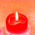 płomień świecy w rytuale - wróżka Ksymena